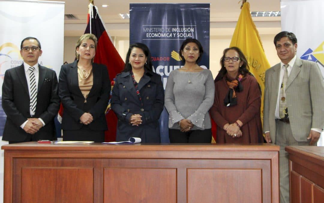 Comisión Nacional Mixta de Acceso a Justicia del Ecuador aprobó instructivo y nombró a su presidenta