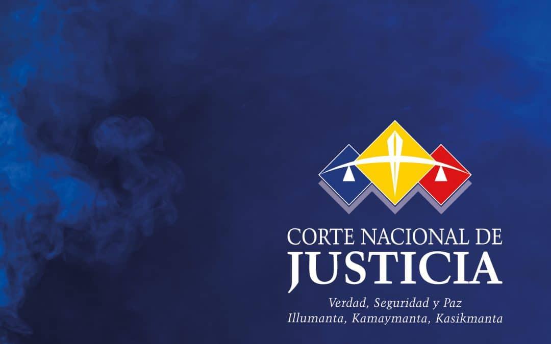 Comunicado – CORTE NACIONAL DE JUSTICIA