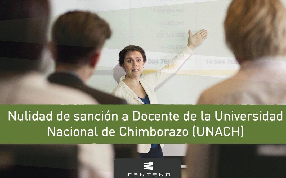 Nulidad a sanción de Docente UNACH