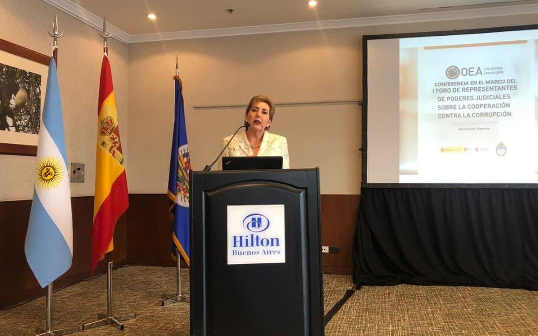 Presidenta de la CNJ participó en I Foro de Representantes de Poderes Judiciales sobre la Cooperación contra la Corrupción