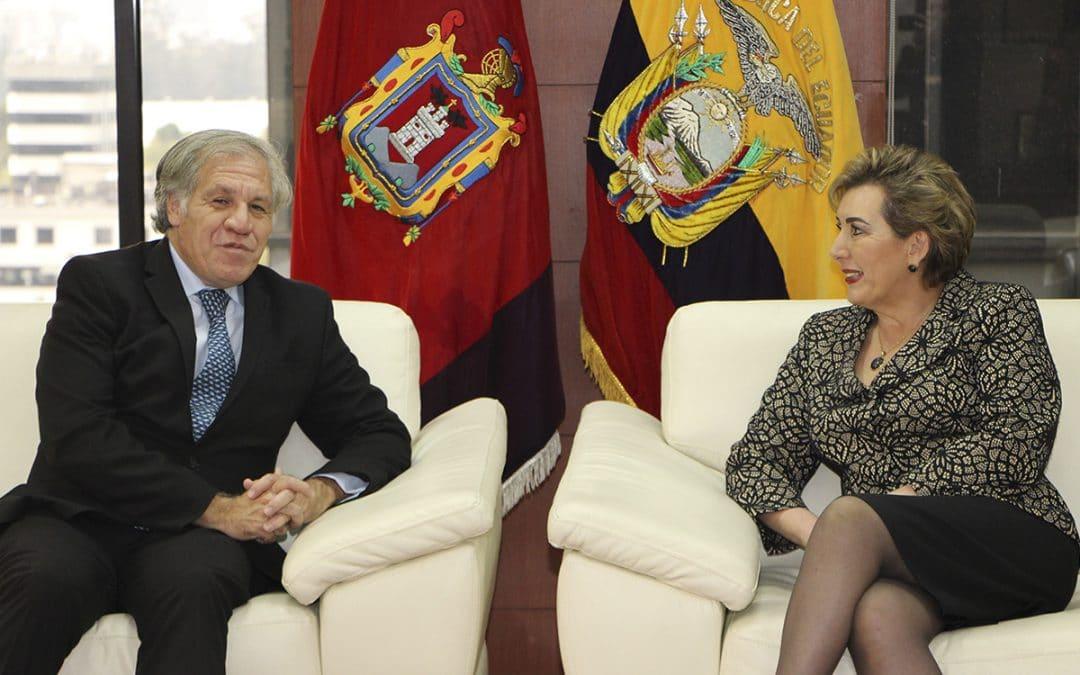 Secretario General de la OEA realizó una visita protocolar a la Corte Nacional de Justicia
